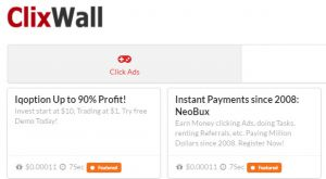 Earn more with our site and ClixWall. Get your satoshi instantly