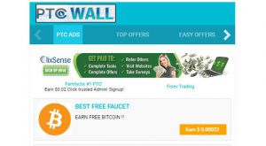 Earn more with our site and PTCWall. Get your satoshi instantly